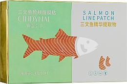 Духи, Парфюмерия, косметика Тканевые патчи для лица от носогубных складок и морщин с экстрактом лосося - Cindynal Salmon Line Patch