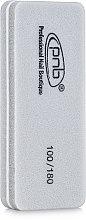 Духи, Парфюмерия, косметика Мини-баф для ногтей 100/180 Grey, прямоугольный - PNB