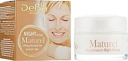 Духи, Парфюмерия, косметика Крем для лица и шеи ночной подтягивающий для зрелой кожи - DeBa Maturel Night Cream