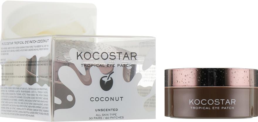 """Гидрогелевые патчи для глаз """"Тропические фрукты. Кокос"""" - Kocostar Tropical Eye Patch Coconut — фото N3"""