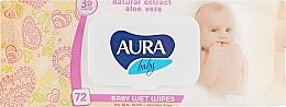 Духи, Парфюмерия, косметика РАСПРОДАЖА! Детские влажные салфетки с экстрактом алоэ вера, 72 шт. - Aura Baby Natural Herbal Extract