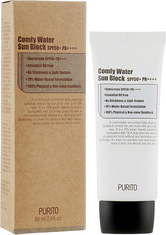 Солнцезащитный крем на водной основе - Purito Comfy Water Sun Block SPF50+ Sunscreen