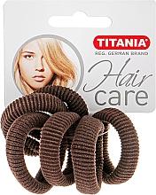 Парфумерія, косметика Резинка для волосся середня, коричнева - Titania