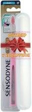 Духи, Парфюмерия, косметика Зубная щетка мягкая + футляр, розовая+белый - Sensodyne Expert