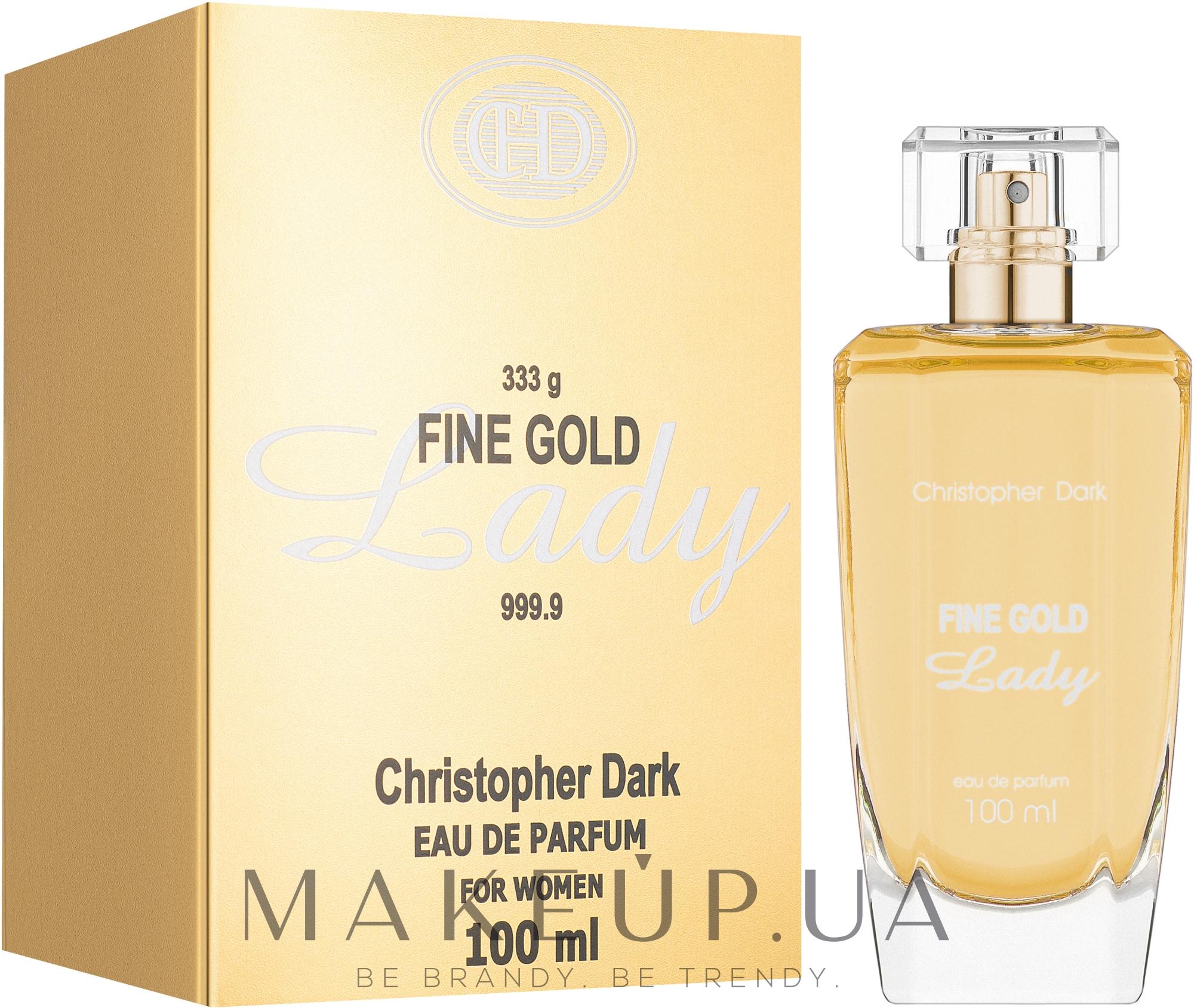 Christopher Dark Fine Gold Lady - Парфумована вода — фото 100ml