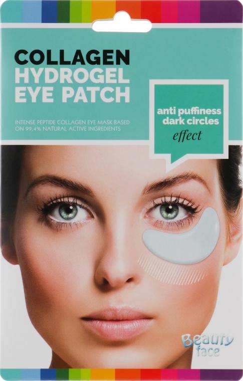 Коллагеновая маска-патч разглаживающая против темных кругов и отеков под глазами - Beauty Face Collagen Hydrogel Eye Mask
