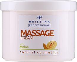 Духи, Парфюмерия, косметика Крем для массажа с экстрактом дыни - Hristina Professional Massage Cream With Melon