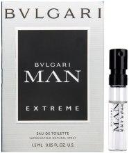 Духи, Парфюмерия, косметика Bvlgari Man Extreme - Туалетная вода (пробник)
