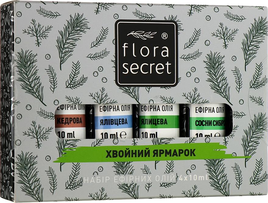 """Набор для сауны """"Хвойный"""" - Flora Secret (oil/10ml + oil/10ml + oil/10ml + oil/10ml)"""