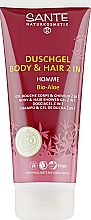 "Духи, Парфюмерия, косметика Шампунь для волос и тела для мужчин ""Алоэ"" - Sante Men Care Homme Body & Hair Shower Gel Organic Aloe Vera"