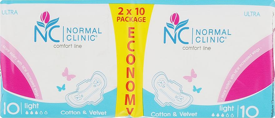 """Прокладки """"Comfort Ultra Cotton & Velvet"""" 3 капли, 20шт - Normal Clinic"""