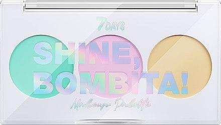 Палетка корректоров для лица 3 цвета - 7 Days Shine, Bombita! Makeup Palette