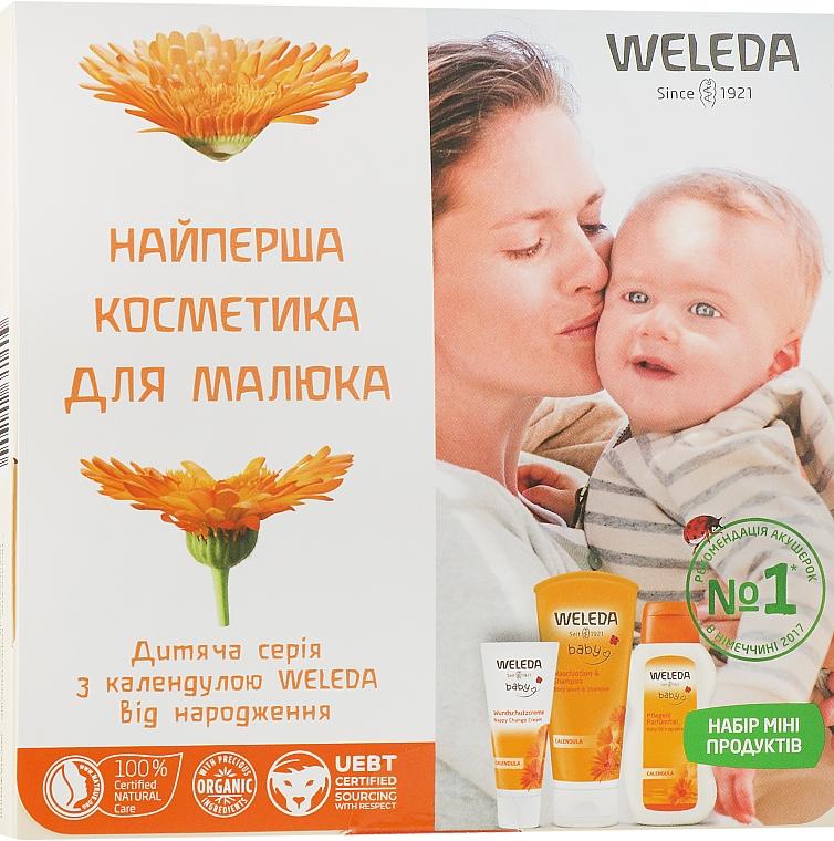 Набор - Weleda Baby Calendula Set (b/cr/10ml+sh/20ml+b/oil/2ml)