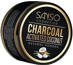 Духи, Парфюмерия, косметика Натуральный отбеливающий зубной порошок - Sanso Cosmetics Charcoal Activated Coconut Natural Powder
