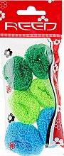 Духи, Парфюмерия, косметика Набор резинок для волос, 7580, 6 шт., зеленый + салатовый + голубой - Reed