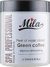 """Духи, Парфюмерия, косметика Маска альгинатная классическая порошковая """"Зеленый кофе"""" - Mila Espresso Remodelling Peel Off Mask Green Coffee"""