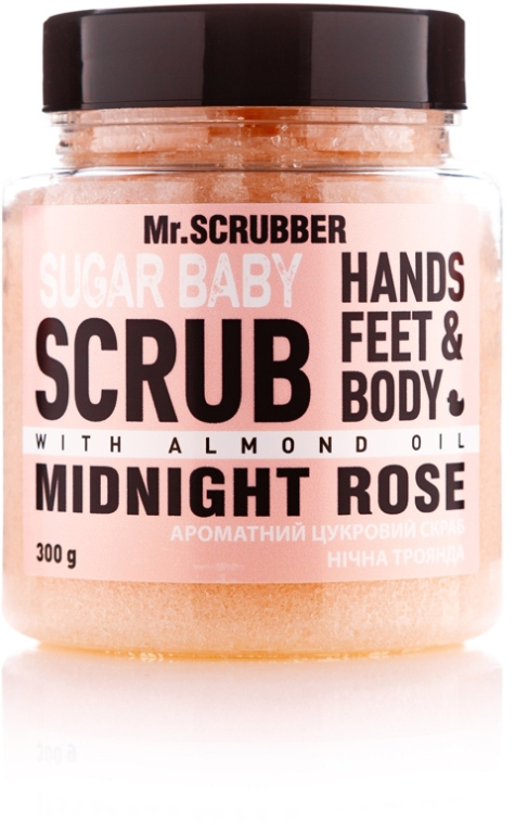 Сахарный скраб для тела - Mr.Scrubber Sugar Baby Midnight Rose Hands Feet & Body Scrub