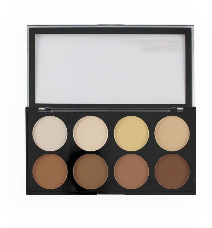 Палетка для контурирования лица - Makeup Revolution Iconic Lights & Contour Pro — фото N2