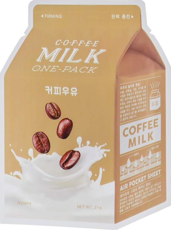 "Тканевая маска ""Кофе"" - A'pieu Coffee Milk One-Pack"