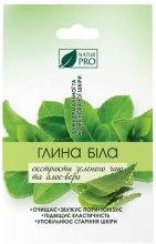 Духи, Парфюмерия, косметика Белая глина с экстрактом зеленого чая и алоэ вера - NaturPro
