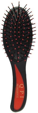Расческа массажная, РМ-8581, черная с красной ручкой 21 см - QPI