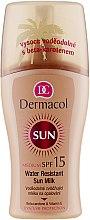 Духи, Парфюмерия, косметика Водостойкое молочко-спрей для загара - Dermacol Water Resistant Sun Milk SPF 15