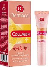 Духи, Парфюмерия, косметика Крем для век и губ - Dermacol Collagen+ Eye And Lip Intensive Rejuvenating Cream