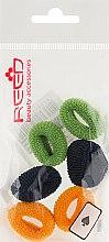 Духи, Парфюмерия, косметика Набор резинок для волос, 7576, 6шт, зеленый + темно-синий + горчичный - Reed