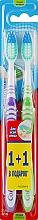 """Набор """"Эксперт чистоты"""", средней жесткости, сиреневая + салатовая - Colgate Expert Cleaning Medium Toothbrush — фото N1"""