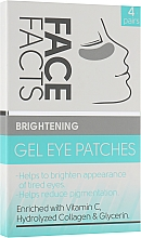 Духи, Парфюмерия, косметика Патчи под глаза гелевые - Face Facts Brightening Gel Eye Patches