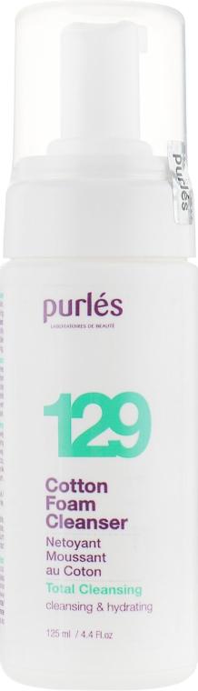 Мягкая очищающая пенка-мусс - Purles 129 Total Cleansing Cotton Foam Cleanser