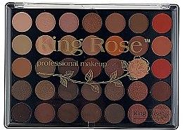 Духи, Парфюмерия, косметика Профессиональная палетка теней для век, 35 цветов - King Rose
