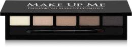Компактный набор пудр для бровей 5 оттенка - Make Up Me 5 Color Eyebrow Powder — фото N1