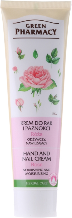 """Крем для рук и ногтей питательный """"Роза"""" - Green Pharmacy"""