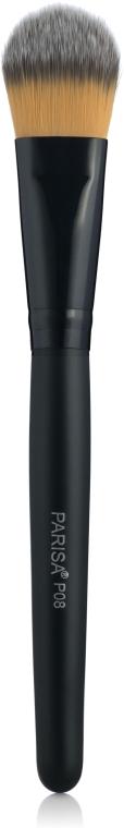 Кисть для нанесения тонального крема Р08 - Parisa Cosmetics