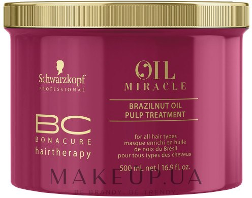 Маска для волос с маслом бразильского ореха - Schwarzkopf Professional BC Oil Miracle Brazilnut Pulp Treatment — фото 500ml