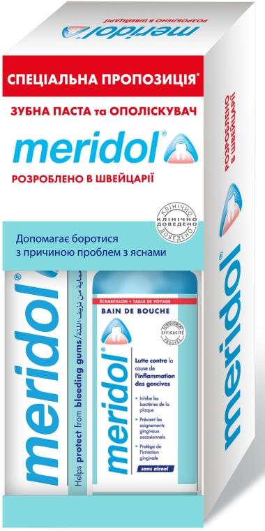 """Набор """"Меридол"""" с ополаскивателем - meridol Brosse A Dent Chirurgicale Ultra Souple (t/past/75ml + m/wash/100ml)"""