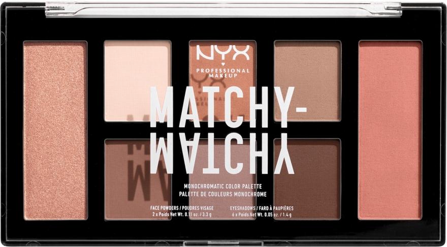 Палетка теней для век и пудр для лица - NYX Professional Makeup Matchy Matchy Palette