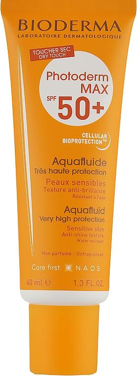 Солнцезащитный флюид для чувствительной кожи - Bioderma Photoderm Max SPF50+ Aquafluid