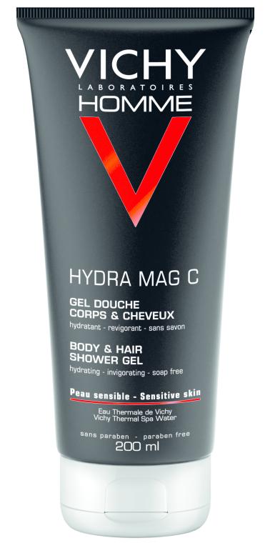 Тонизирующий гель для душа для тела и волос - Vichy Homme Hydra MAG C gel douche