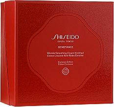 Духи, Парфюмерия, косметика Набор - Shiseido Benefiance Wrinkle Smoothing Cream Enriched Holiday Kit (f/cr/50ml + foam/15ml + treat/30ml + conc/10ml + eye/cr/2ml)