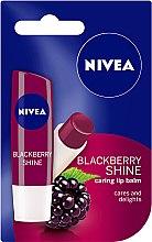 "Духи, Парфюмерия, косметика Бальзам для губ ""Ежевика"" - Nivea Blackberry Shine Lip Care"