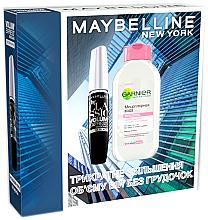Духи, Парфюмерия, косметика Набор - Maybelline New York Volum Express Classic (mascara/10ml + micellar/125ml)