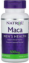 Духи, Парфюмерия, косметика Мака для мужского здоровья, 500 mg - Natrol Maca Men's Healh