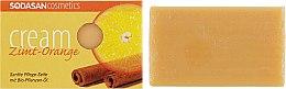 "Духи, Парфюмерия, косметика Мыло-крем для лица ""Cinnamon-Orange"" - Sodasan Cream Cinnamon Orange Soap"