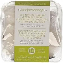 Духи, Парфюмерия, косметика Спонж - The Konjac Sponge Company Travel/Gift Sponge Bag Duo Pack 100% Pure