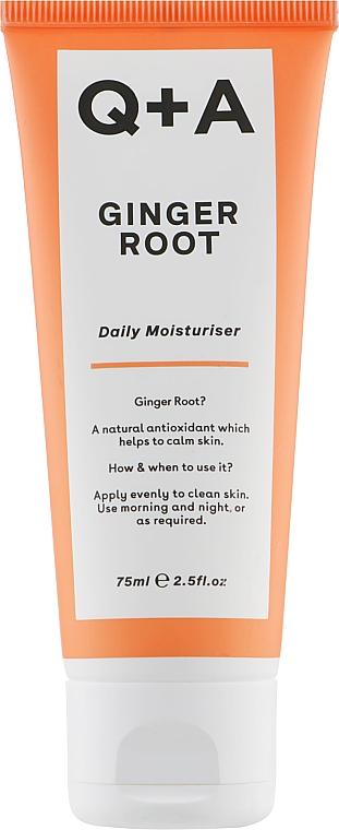 Увлажняющий крем для лица - Q+A Ginger Root Daily Moisturiser