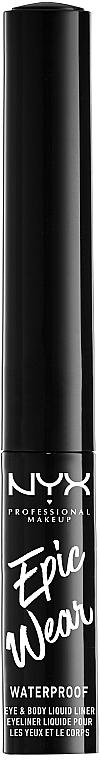 Жидкий лайнер для век и тела - NYX Professional Makeup Epic Wear Metallic Liquid Liner
