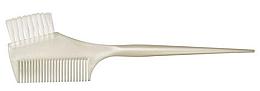 Духи, Парфюмерия, косметика Кисть для окрашивания волос с расческой, белая перламутровая - Comair Hair Force