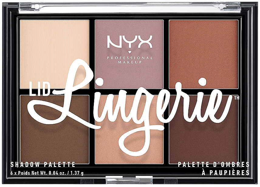 Палетка теней для век - NYX Professional Makeup Lingerie Shadow Palette — фото N1